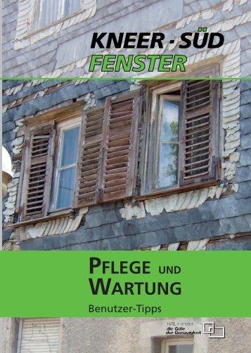Wartungs- und Pflegeanleitung - Kneer GmbH