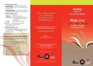 Firecare: Anxiety - Queensland Fire and Rescue Service