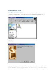 Dial-up Configuration - Win Me: - Jlac