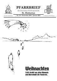 Pfarrbrief Nr. 54 - Dezember 2011 / Januar 2012 - Katholische ...
