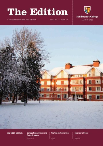 The Edition - Lent 2012.pdf - St Edmund's College - University of ...