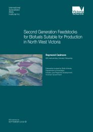 Second Generation Feedstocks for Biofuels Suitable for Production ...