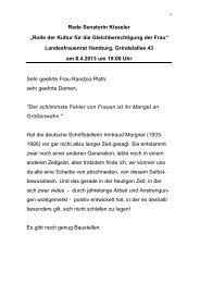 Rede von Frau Kisseler downloaden - Landesfrauenrat Hamburg eV