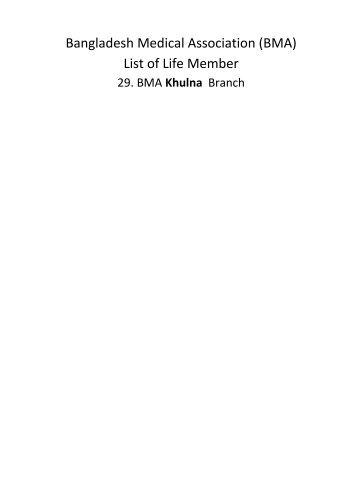 Khulna - BMA