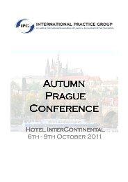 Programme IPG Conference Prague 2011