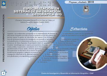 Especialización en Sistemas de Información Geográfica (SIG)
