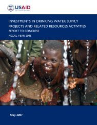 Investments in Drinking Water Supply Projects and Related ...