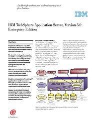 IBM WebSphere Application Server, Version 3.0 Enterprise Edition