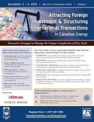 Attracting Foreign Investment & Structuring ... - Bennett Jones