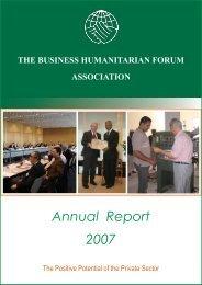 Annual Report 2007 - Business Humanitarian Forum