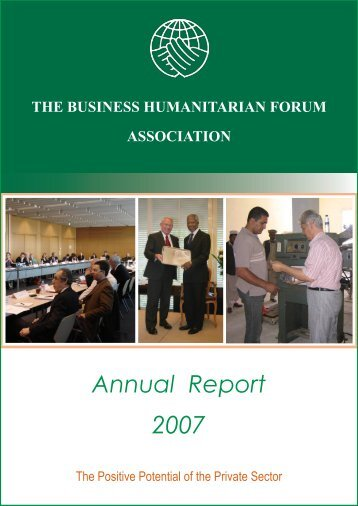 Annual Report 2007 - Business Humanitarian Forum