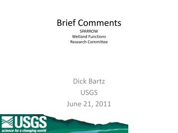 Brief Comments - Western Lake Erie Basin Partnership