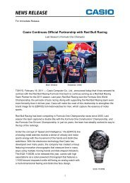 Casio Continues Official Partnership with Red Bull ... - Marco Group