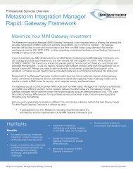 Metastorm Integration Manager Rapid: Gateway Framework