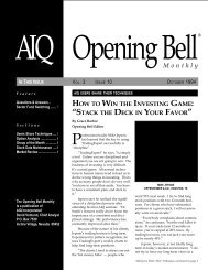 October 1994 - AIQ Systems