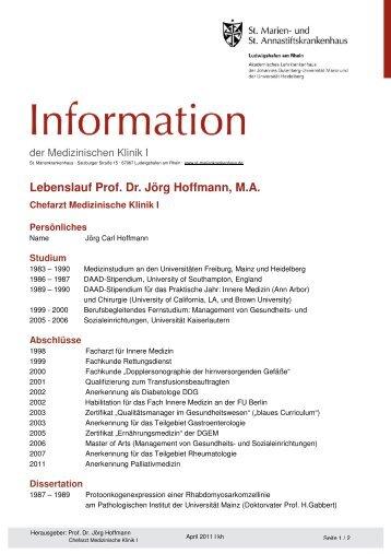 Lebenslauf Prof Dr Med Guido Adler