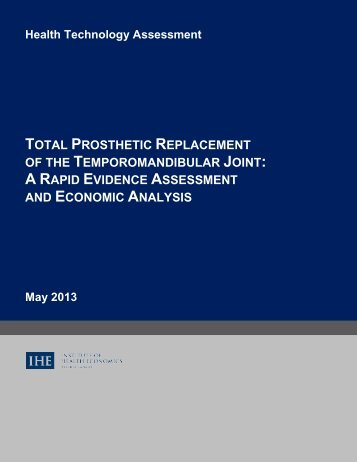 total prosthetic replacement of the temporomandibular joint: a rapid ...
