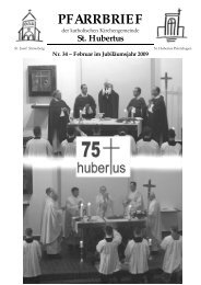 PFARRBRIEF - Katholische Pfarrgemeinde St. Hubertus