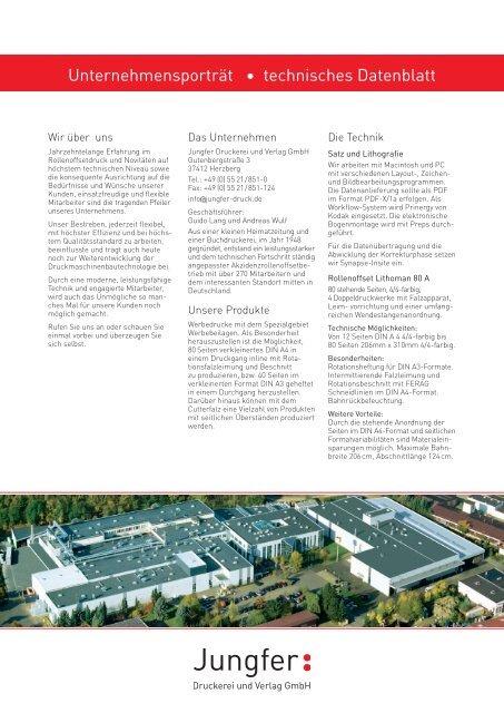 Download Technisches Datenblatt Jungfer Druckerei Und Verlag