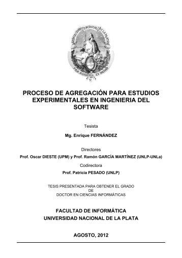 proceso de agregación para estudios experimentales en ingenieria ...