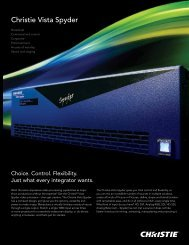 Christie Vista Spyder Brochure - Christie Digital Systems