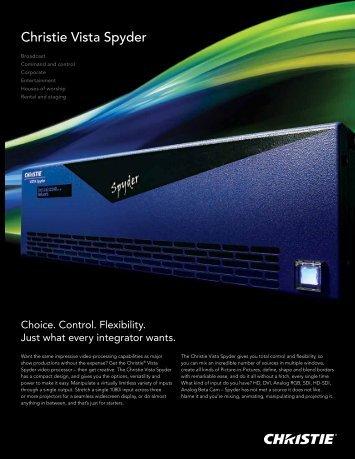 Christie Vista Spyder Brochure - Christie Digital Systems