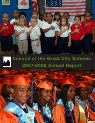 Council of the Great City Schools 2007-2008 Annual Report