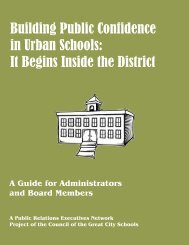 Building Public Confidence in Urban Schools - Council of the Great ...