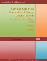 Common Core State Standards and Diverse Urban Students: Using ...