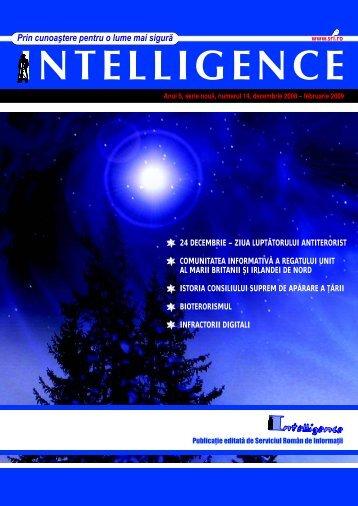 Revista Intelligence - numărul 14, decembrie 2008 - Serviciul ...