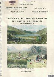 evaluación de impacto ambiental del proyecto de embalse ...