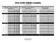 First Grade Phonics Lessons