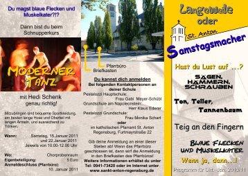 Langeweile - Pfarrei St. Anton Regensburg