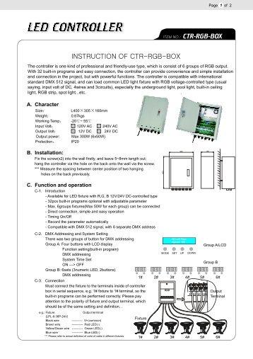 src washer 100 v2 3 controller for led wall wiedamark rh yumpu com