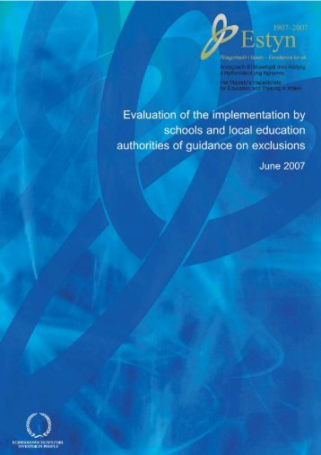 Evaluation of implementation by schools and LEAs of guidance on ...