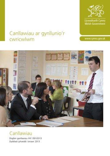 Canllawiau ar gynllunio'r cwricwlwm - Learning Wales