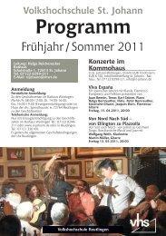 Programm - St. Johann