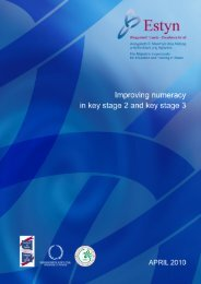 Improving numeracy in key stage 2 and key stage 3 April 2010 - Estyn