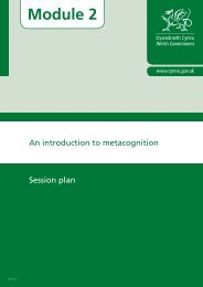 Session plan - Learning Wales - Welsh Government