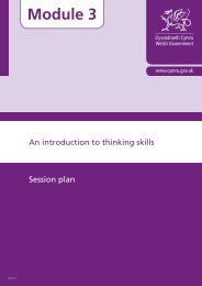 An Introduction to Thinking Skills: Session plan - Learning Wales