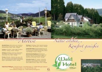 Prospekt downloaden - Waldhotel Willingen