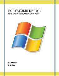 Portafolio de TIC 1 - Preparatoria 22