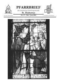 PFARRBRIEF - Katholische Pfarrgemeinde St.Hubertus (Petershagen)