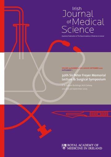 Sir Peter Freyer Memorial Lecture - IJMS   Irish Journal of Medical ...