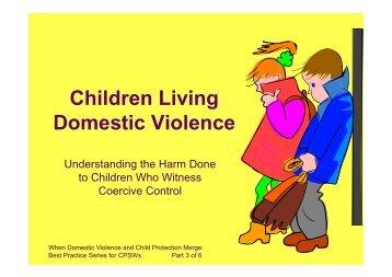 Children Living Domestic Violence - The Greenbook Initiative