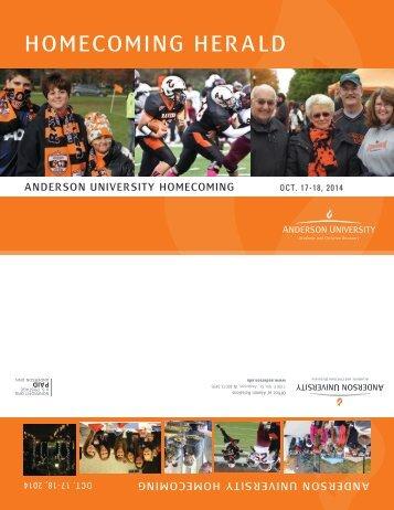 homecoming herald - Anderson University