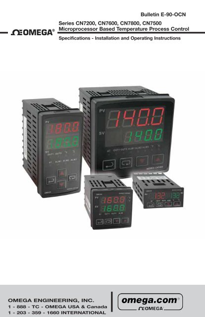 CN7200, CN7600, CN7800, CN7500 - Manual - Omega Engineering on