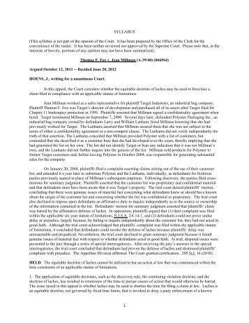 Fox v. Millman - Appellate Law NJ Blog