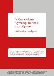 Y Cwricwlwm Cymreig, hanes a stori Cymru ... - Learning Wales