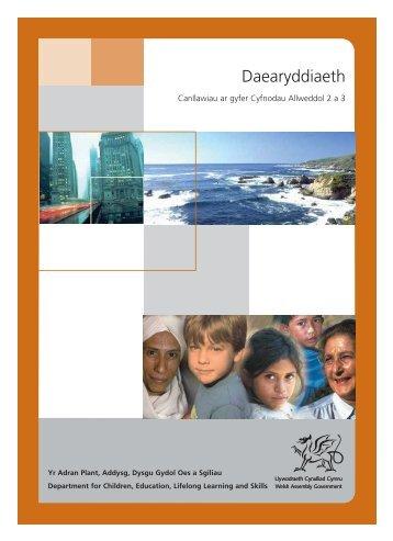 Daearyddiaeth: Canllawiau ar gyfer Cyfnodau ... - Learning Wales